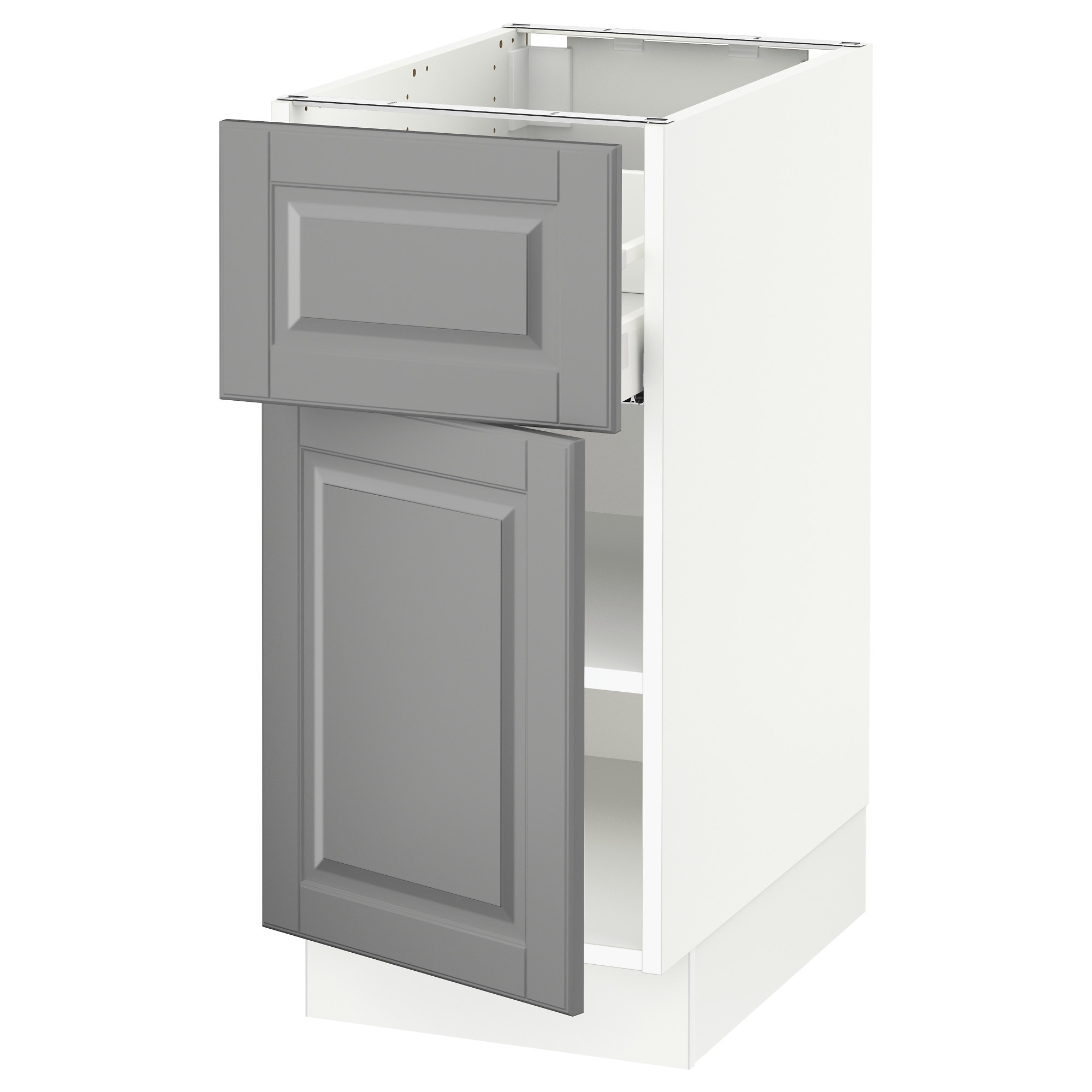 Sektion Base Cabinet With Drawer Door White Maximera Bodbyn Gray Width 15