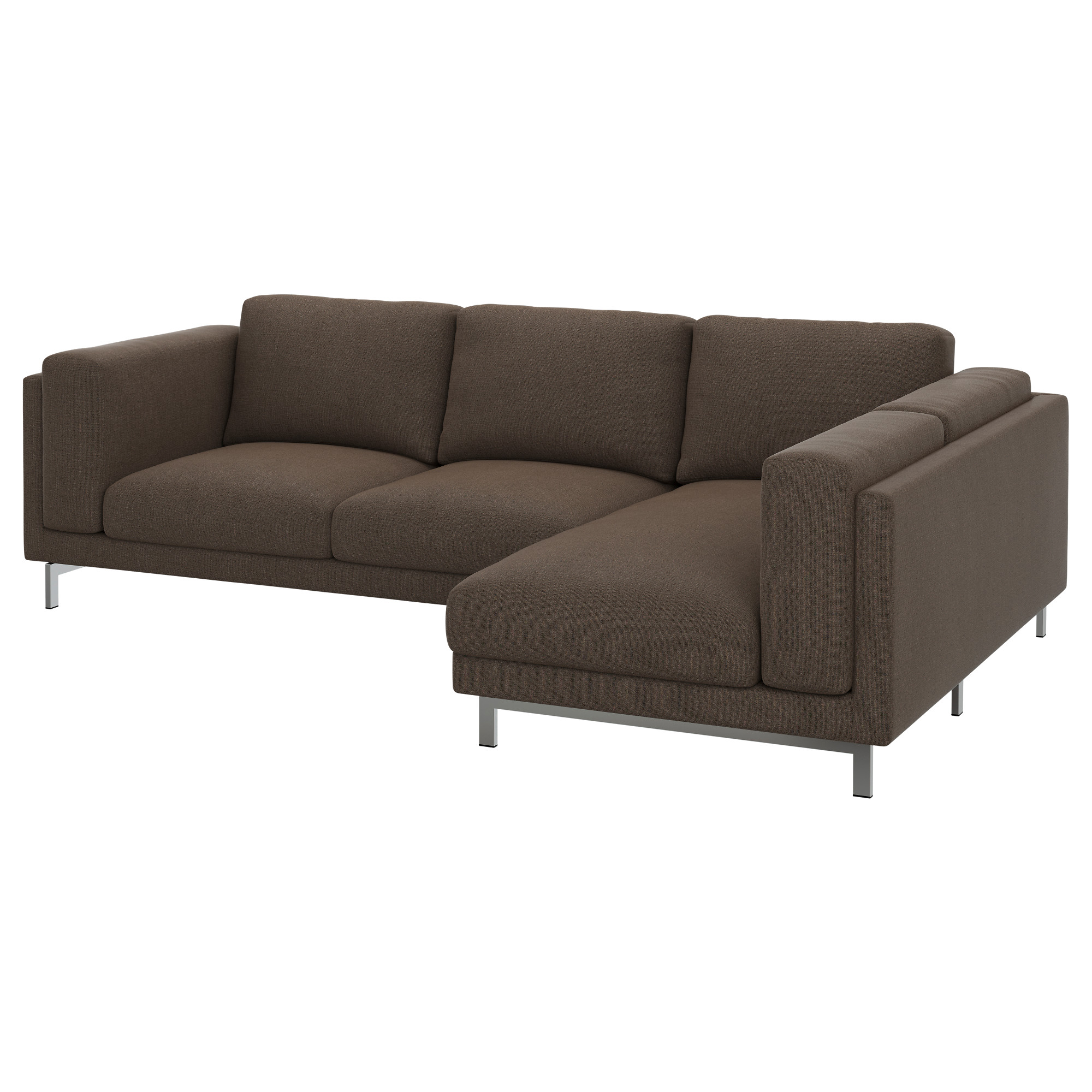 NOCKEBY Cover for 3 seat sectional right Tenö brown IKEA