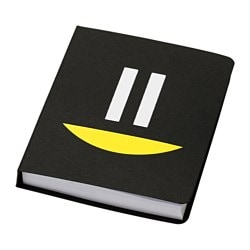 KÄNNETECKEN folder with sticky notes, black Width: 8.5 cm Height: 10.5 cm