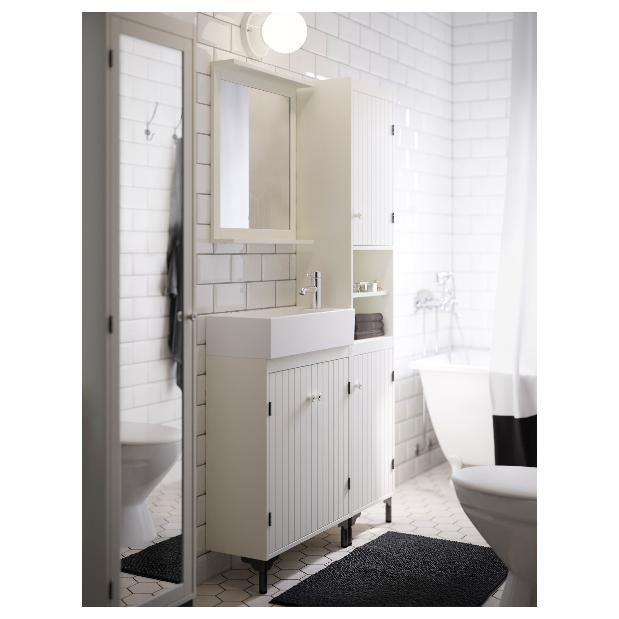 SILVERN Sink cabinet with 2 doors IKEA