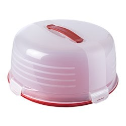 "NYBAKAT food carrier, red Diameter: 13 "" Height: 6 "" Diameter: 33 cm Height: 15 cm"