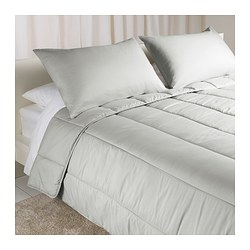 STRIMKROKUS, Comforter and pillowcase(s), gray cooler