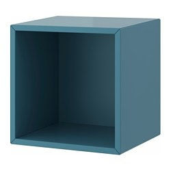 VALJE wall cabinet, blue-turquoise Width: 35 cm Depth: 30 cm Height: 35 cm