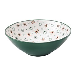 VANOR bowl, green, patterned Diameter: 19 cm Height: 7 cm