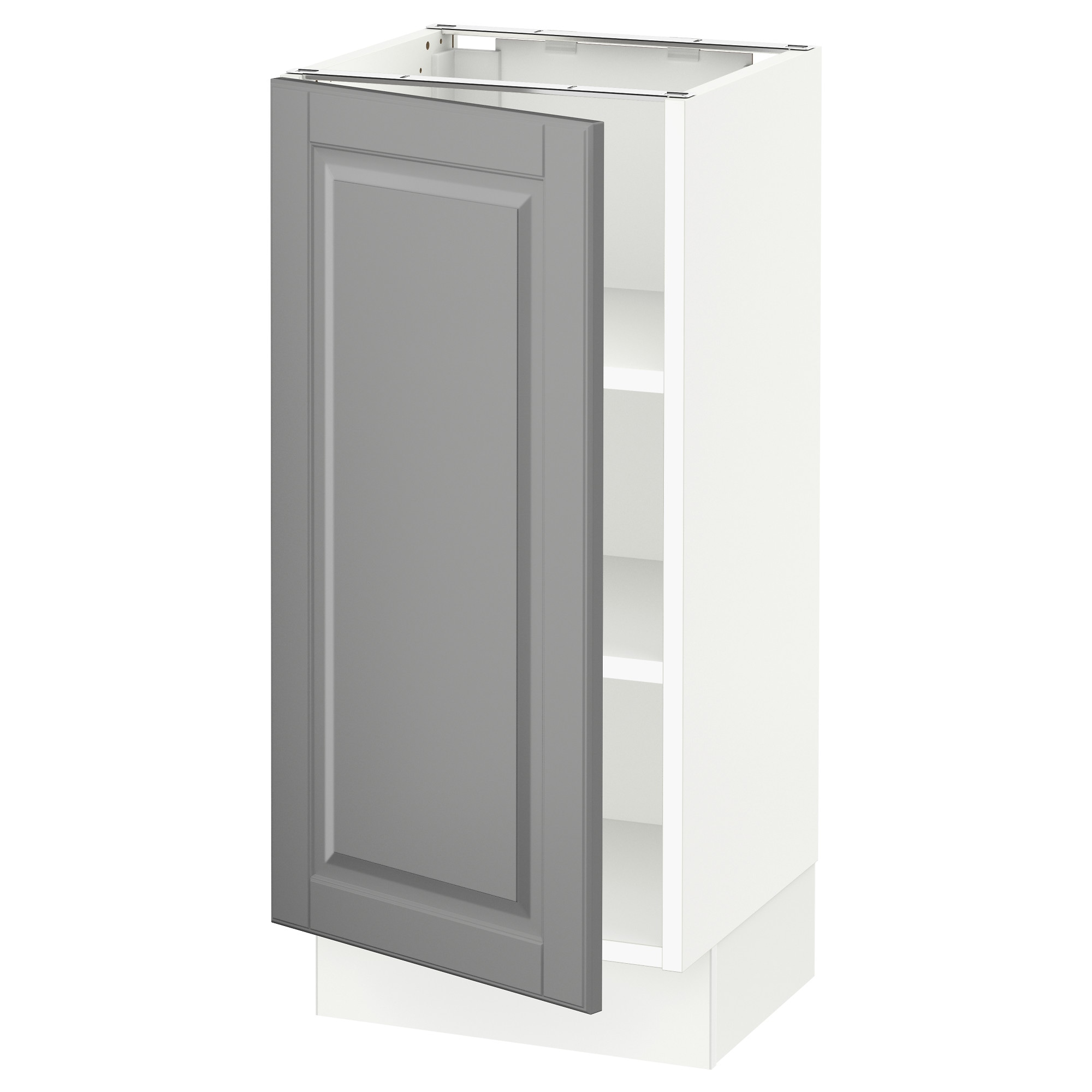 Replacement kitchen cabinet doors vancouver bc - Sektion Base Cabinet With Shelves White Bodbyn Gray Width 15 System