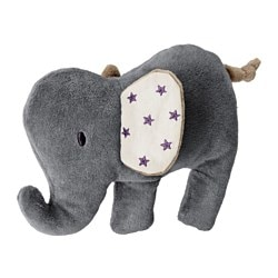 CHARMTROLL, Squeaky toy, elephant, gray beige