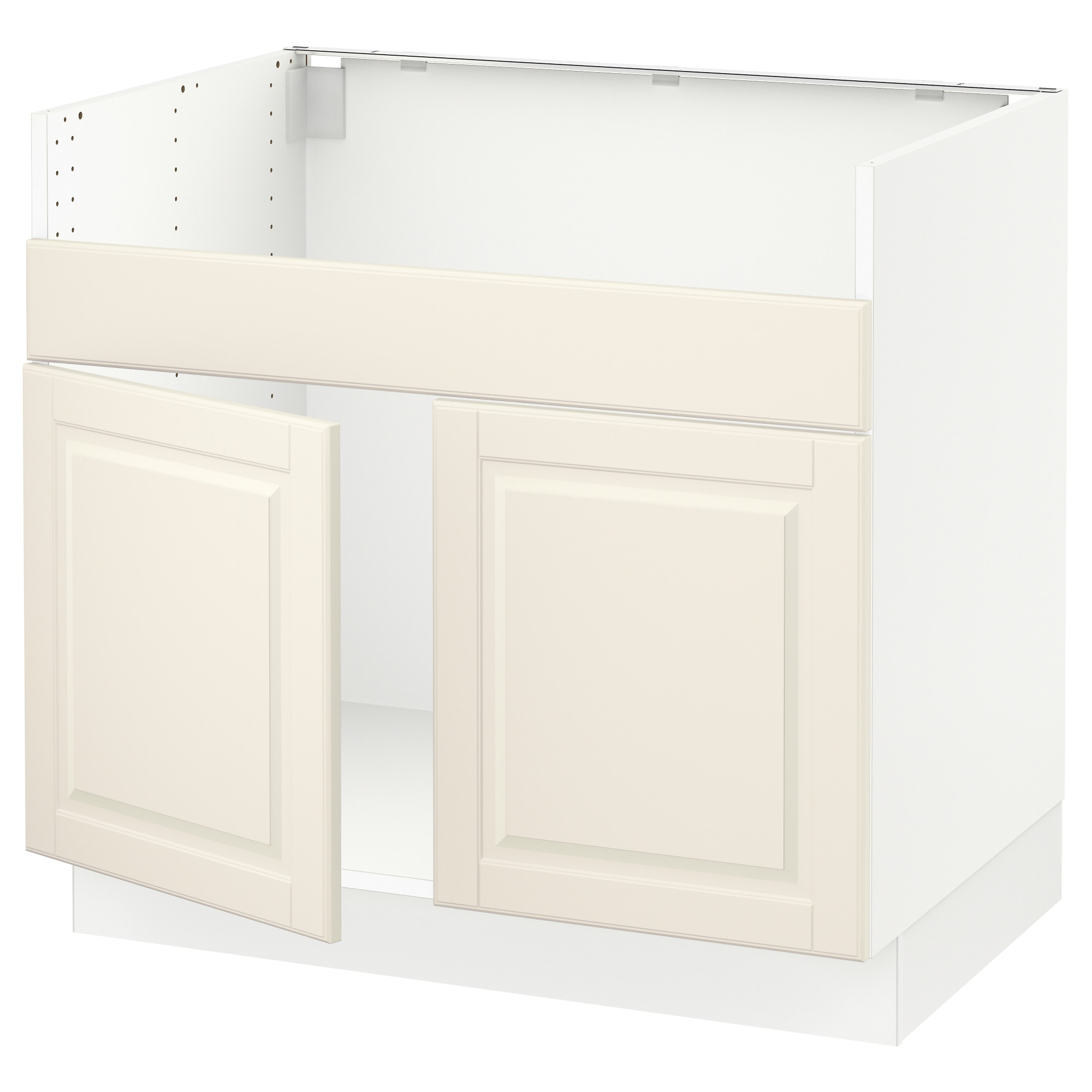 SEKTION Base cabinet f DOMSJ– 2 bowl sink white Grimslöv off