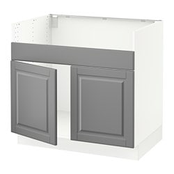 sektion base cabinet fdomsj 2 bowl sink white bodbyn gray width - Sink Cabinet Kitchen
