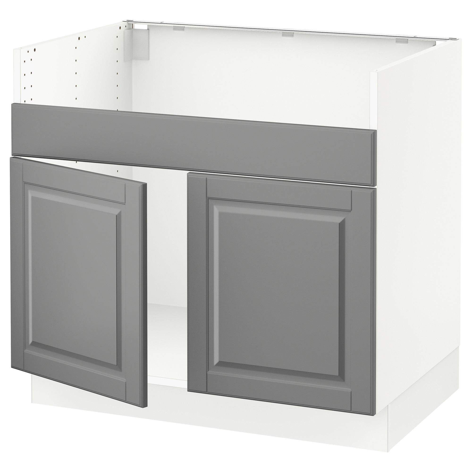 SEKTION base cabinet f DOMSJ  2 bowl sink  white  Bodbyn gray Width. Base Cabinets   SEKTION system   IKEA