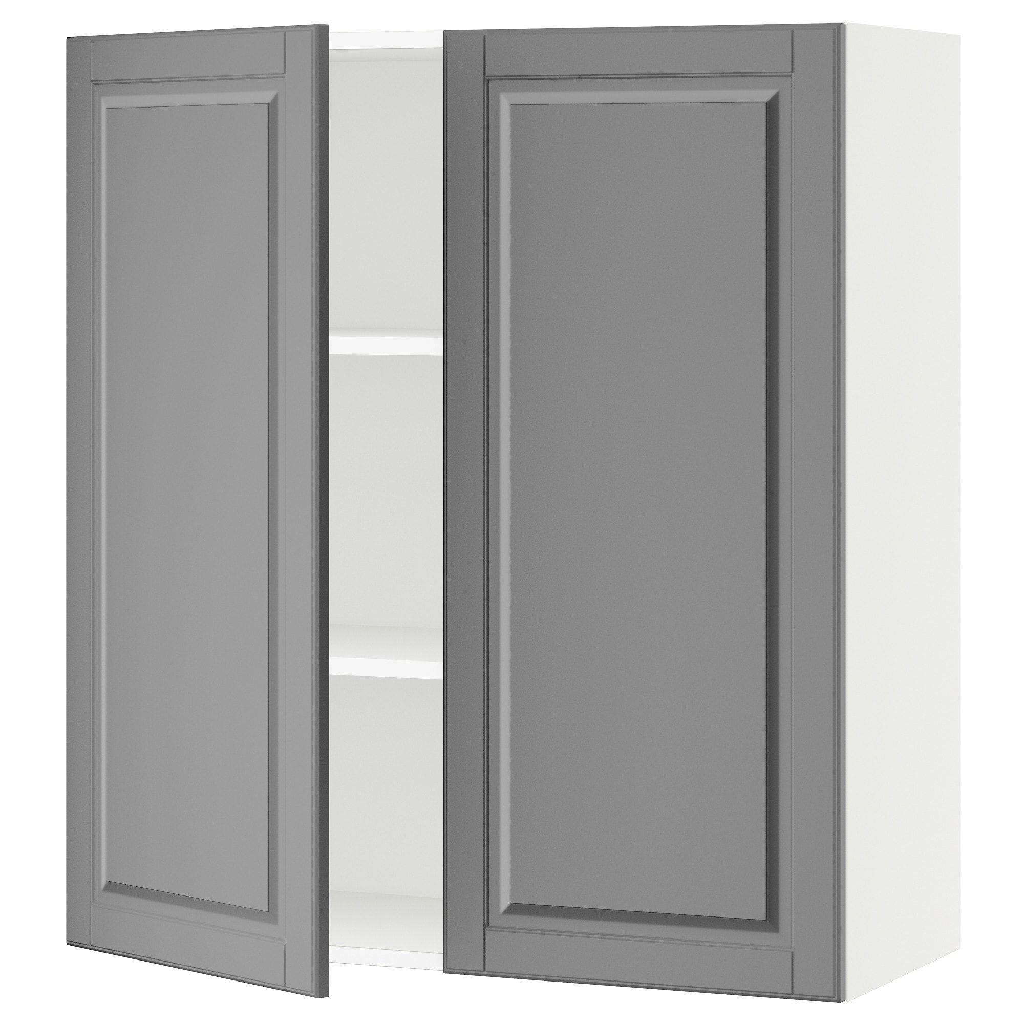 SEKTION Wall cabinet with 2 doors - white, Bodbyn gray, 36x15x40 ...