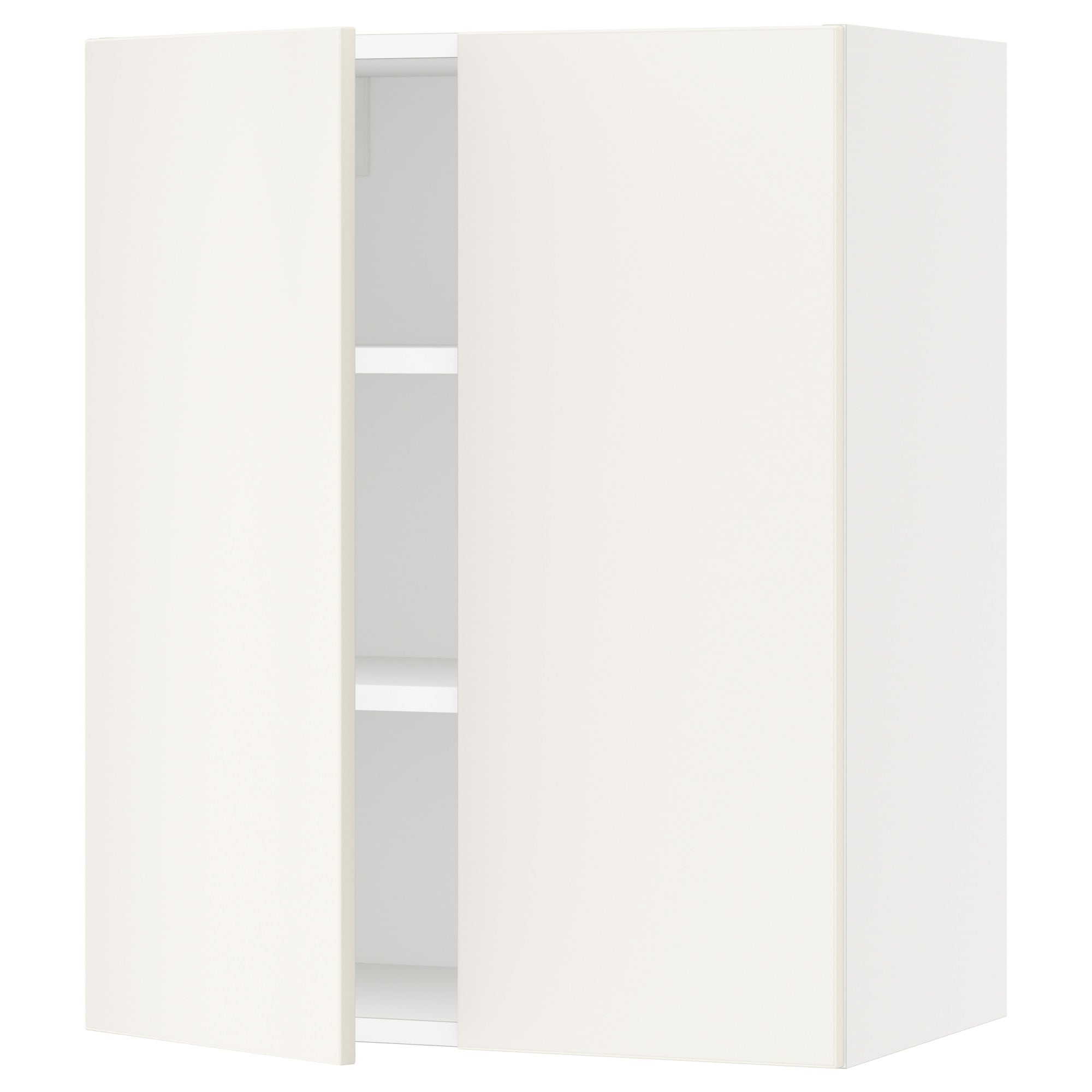 SEKTION Wall cabinet with 2 doors - white, Grimslv off-white, 30x15x30