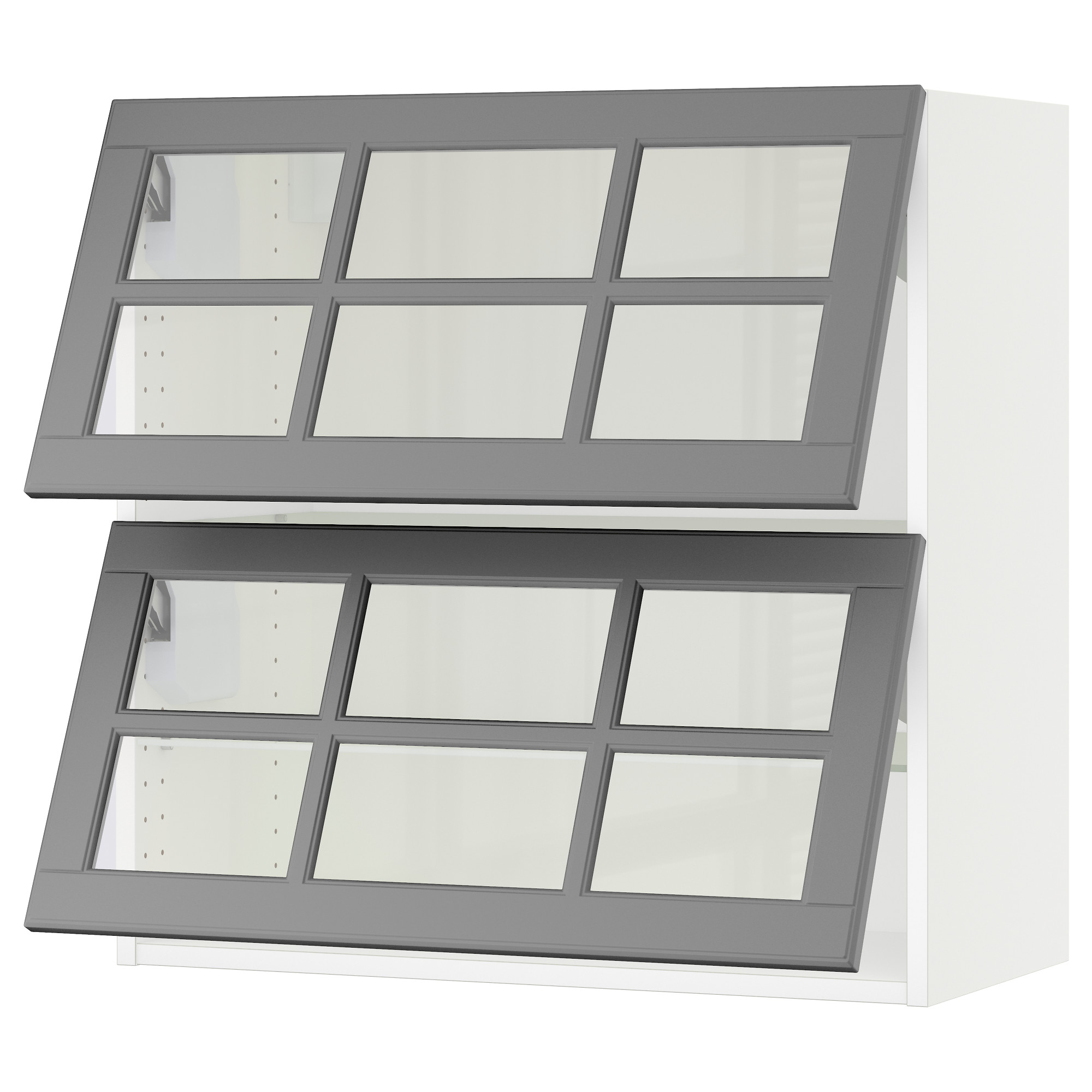 wall cabinets sektion horizontal wall cabinet 2glass door white bodbyn gray width 30