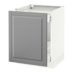 SEKTION base cabinet for sorting + 1 door, white Maximera, Bodbyn gray