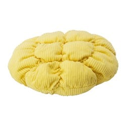 "STICKAT stool cover, yellow Diameter: 11 "" Weight: 4 oz Filling weight: 2 oz Diameter: 28 cm Weight: 125 g Filling weight: 50 g"