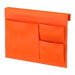STICKAT bed pocket, orange Width: 39 cm Height: 30 cm