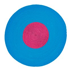 "STICKAT rug, braided, turquoise, lilac Diameter: 2 ' 6 "" Area: 4.74 sq feet Diameter: 75 cm Area: 0.44 m²"