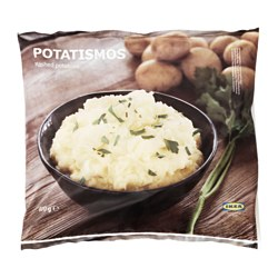 POTATISMOS mashed potatoes, frozen Net weight: 21.2 oz Net weight: 600 g