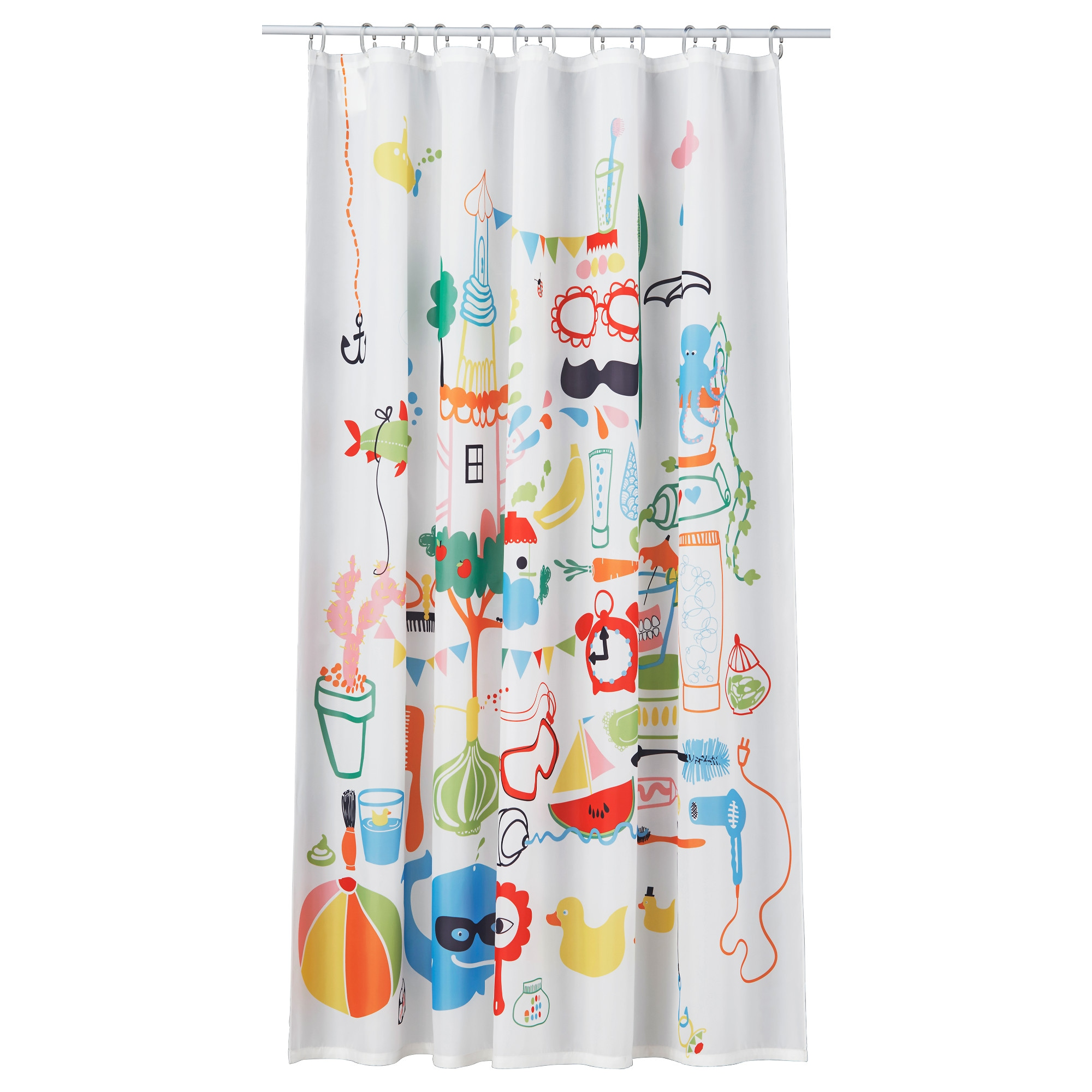 Bathroom plastic curtains - Badb Ck Shower Curtain Multicolor Length 71 Width 71 Area 34 88