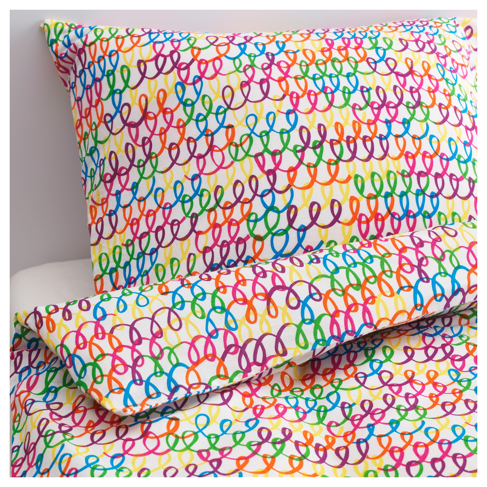 STICKAT duvet cover and pillowcase s   multicolor Thread count  106  inch. Children s Textiles   IKEA