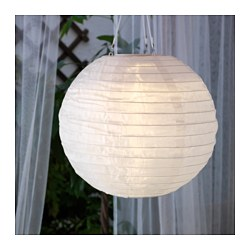 SOLVINDEN LED solar-powered pendant lamp, globe white