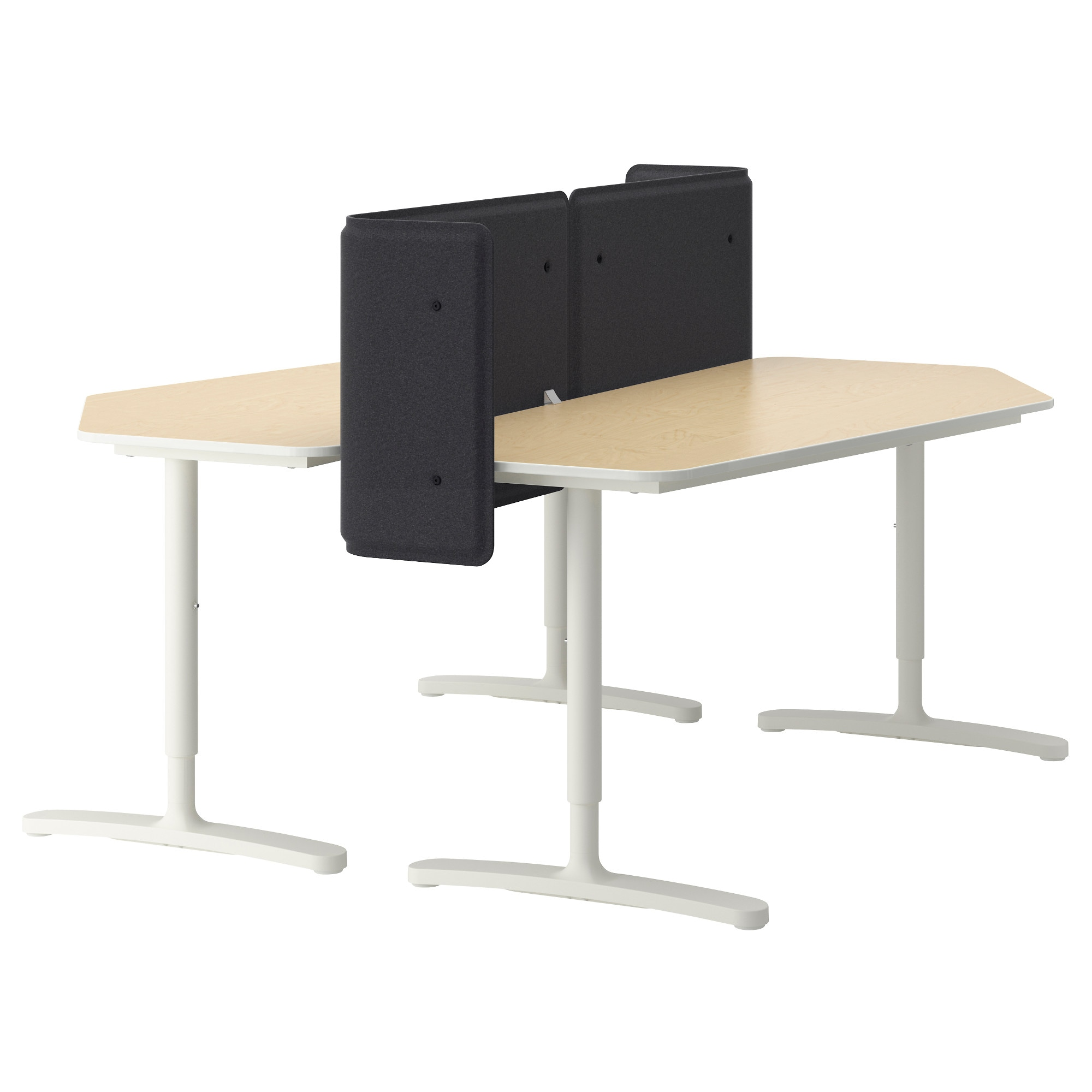 Eckschreibtisch ikea galant  BEKANT Desk with screen - white - IKEA