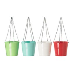 SOCKER hanging planter, assorted colours, in/outdoor assorted colours Height: 19 cm Inside diameter: 19 cm