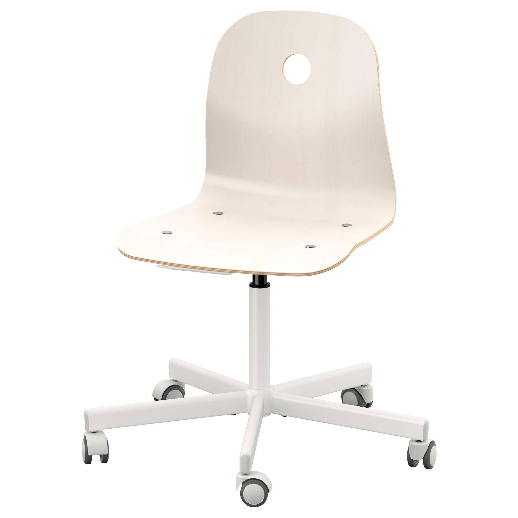 VÅGSBERG / SPORREN Swivel Chair, White Tested For: 243 Lb Width: 29 1