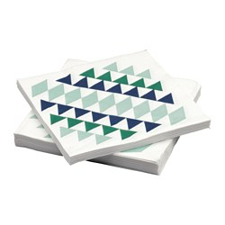 TILLÅTA paper napkin, patterned Length: 33 cm Width: 33 cm Package quantity: 30 pieces