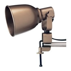 HEKTAR wall/clamp spotlight, bronze-colour Max. depth: 22 cm Diameter: 11 cm Shade height: 15 cm
