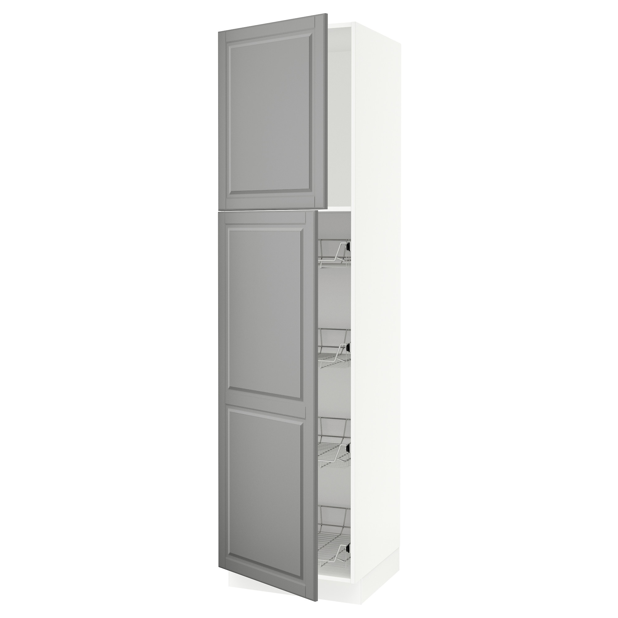 trendy sektion high cabinet wdoor u wire baskets white bodbyn gray width with garde manger ikea. Black Bedroom Furniture Sets. Home Design Ideas