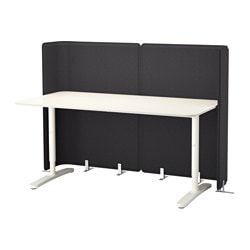BEKANT reception desk, white Screen height: 120 cm Length: 160 cm Depth: 80 cm