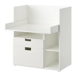 STUVA play table with 2 drawers, white Width: 90 cm Depth: 79 cm Height: 102 cm