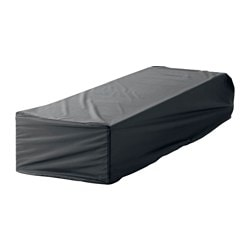 TOSTERÖ cover for chaise, black