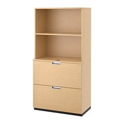 GALANT storage combination with filing, birch veneer Width: 80 cm Depth: 45 cm Height: 160 cm