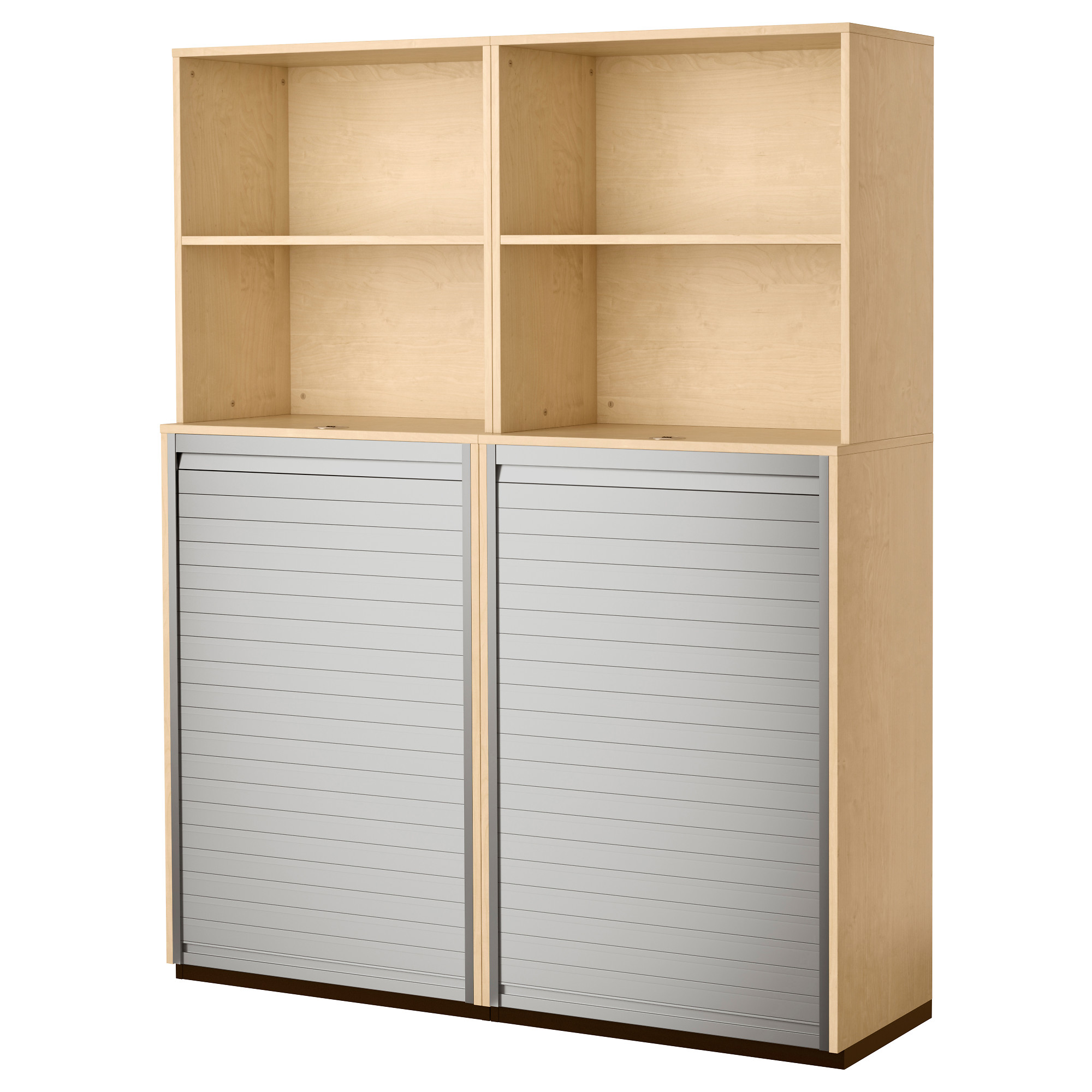 Ikea Home Office Galant galant storage combination with roll-front - birch veneer, 63x78 3