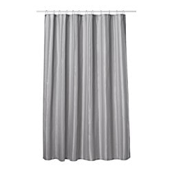 SALTGRUND, Shower curtain, gray