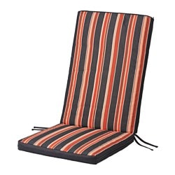 ekern seatback cushion outdoor black stripe length 116 cm width