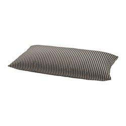 "GRENÖ cushion, outdoor, black striped, gray Width: 23 5/8 "" Depth: 11 3/4 "" Filling weight: 13 oz Width: 60 cm Depth: 30 cm Filling weight: 360 g"