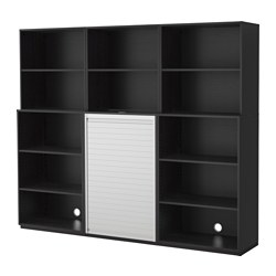 GALANT storage combination, black-brown Width: 240 cm Depth: 45 cm Height: 200 cm