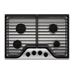 FRAMTID, 4 burner gas cooktop, Stainless steel
