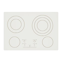 "NUTID 4 element glass ceramic cooktop, white Width: 30 7/8 "" Depth: 21 3/4 "" Height: 3 3/4 "" Width: 78.3 cm Depth: 55.2 cm Height: 9.5 cm"