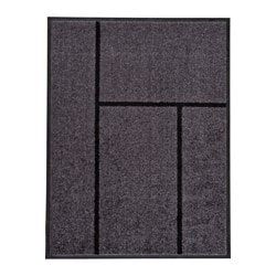 KÖGE door mat, grey, black