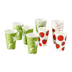 SOMMAR 2015 disposable mug, assorted patterns Height: 11 cm Volume: 35 cl Package quantity: 10 pack