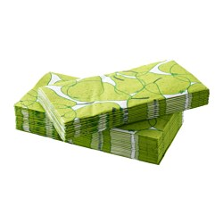 SOMMAR 2015 paper napkin, pear pattern Length: 38 cm Width: 38 cm Package quantity: 30 pack