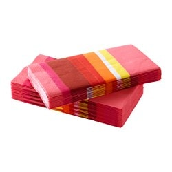 SOMMAR 2015 paper napkin, pink, striped Length: 38 cm Width: 38 cm Package quantity: 30 pack