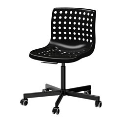 SKÅLBERG /  SPORREN swivel chair, black Tested for: 110 kg Width: 71 cm Depth: 71 cm