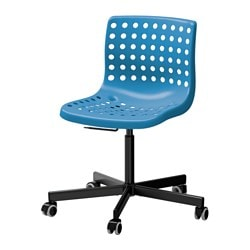 "SKÅLBERG /  SPORREN swivel chair, blue, black Tested for: 243 lb Width: 28 "" Depth: 28 "" Tested for: 110 kg Width: 71 cm Depth: 71 cm"