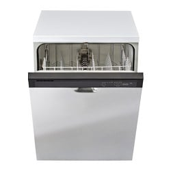 RENLIG, Built-in dishwasher, white, Stainless steel