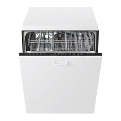 "RENLIG fully integrated dishwasher, Stainless steel Width: 23 7/8 "" Depth: 24 "" Height: 33 1/2 "" Width: 60.6 cm Depth: 61.0 cm Height: 85.1 cm"