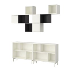 VALJE shelving unit, grey, white